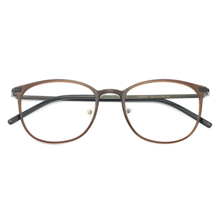 HAN MEGA-TR钛塑不锈钢光学眼镜架-复古棕色(HD49201-F04)
