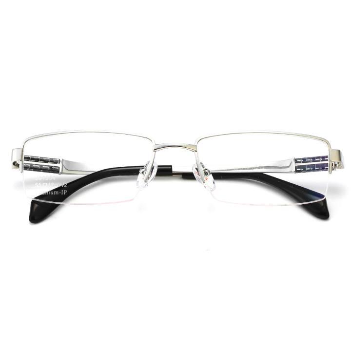HAN纯钛光学眼镜架J81554-C2亮银色