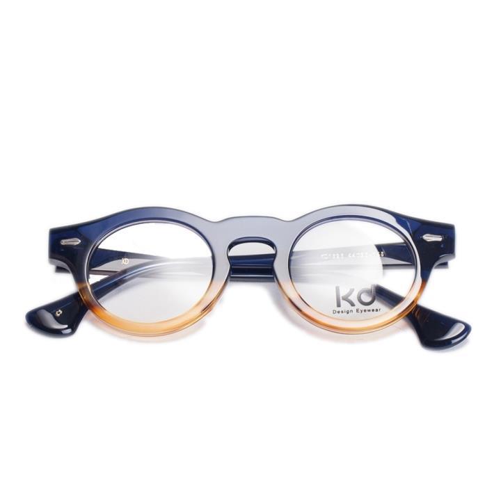 KD时尚光学眼镜架KD1525-C3  上蓝色+下咖啡色
