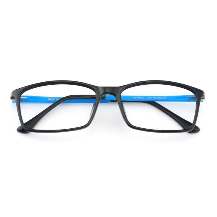 HAN MEGA-TR钛塑光学镜架-清新黑蓝(HD49173-C4)