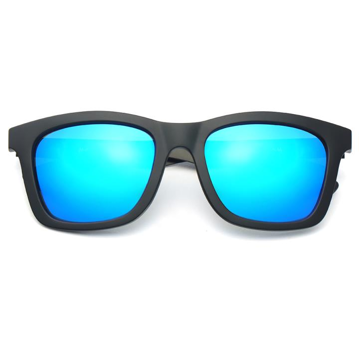 HAN CX尼龙不锈钢防紫外线太阳镜-黑框蓝片(HD59109-S07)
