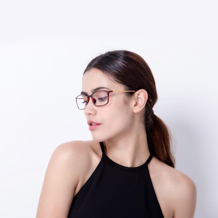 HAN TR板材光学眼镜架-优雅酒红(HD49157-F06)