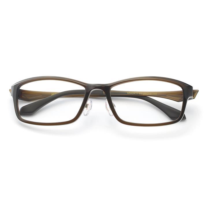 HAN 塑钢时尚光学眼镜架-复古暗棕(HN49411-C2)
