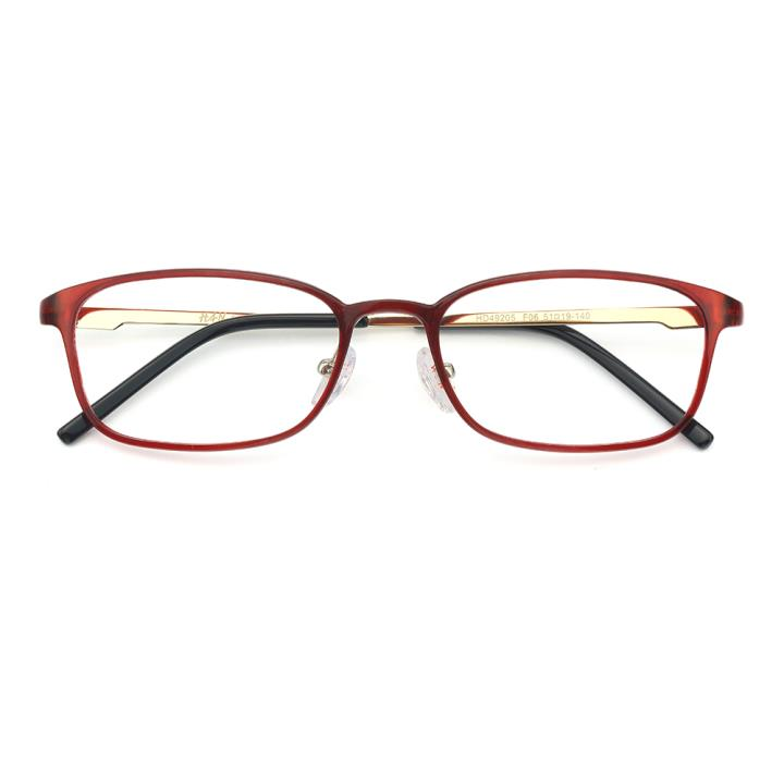 HAN MEGA-TR钛塑不锈钢光学眼镜架-优雅红色(HD49205-F06)