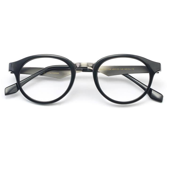 HAN MEGA-TR钛塑光学眼镜架-亮黑色(HD49166-C4)