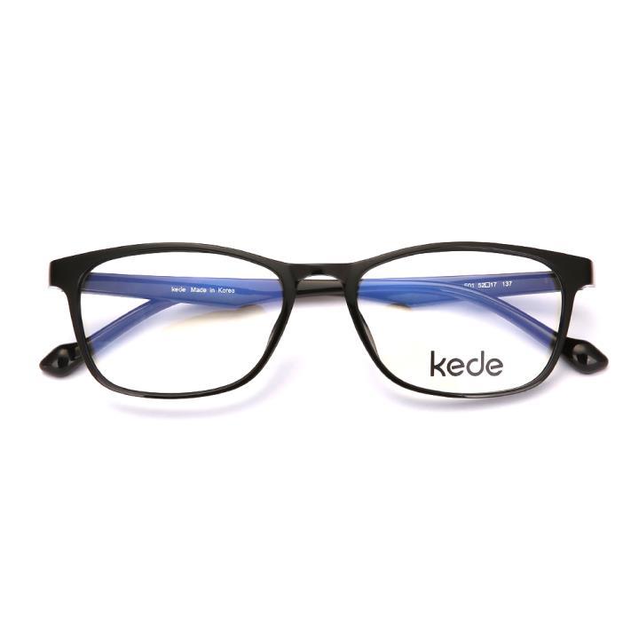 Kede時尚光學眼鏡Ke1819-F01 亮黑