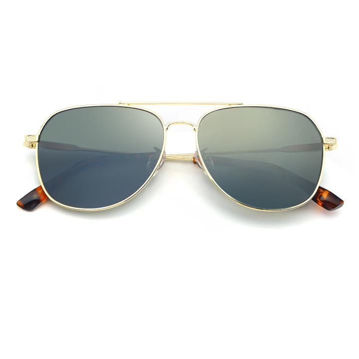 HAN不锈钢白铜防紫外线太阳镜-金框灰片(HD59115-S18)