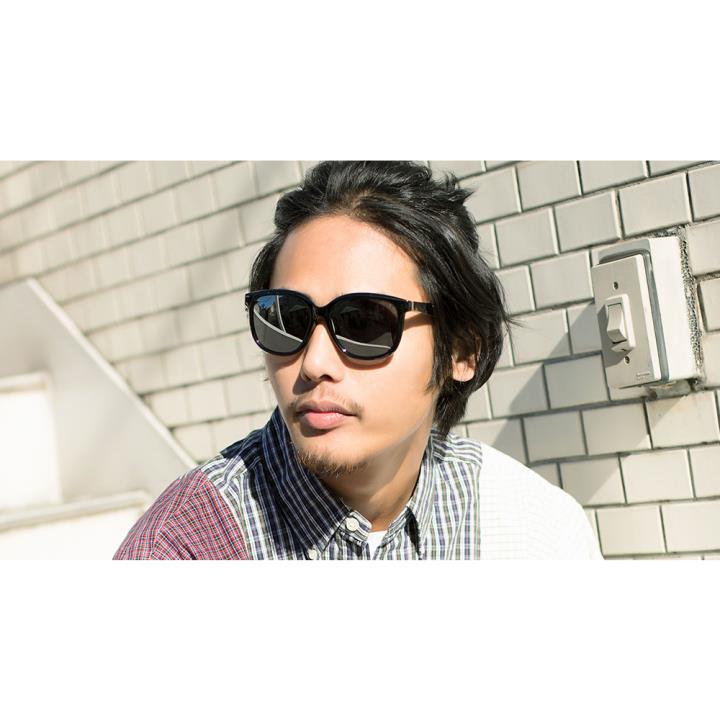 HAN SUNGLASSES PC偏光太阳眼镜-黑框水银片(HN55067L C3/L)