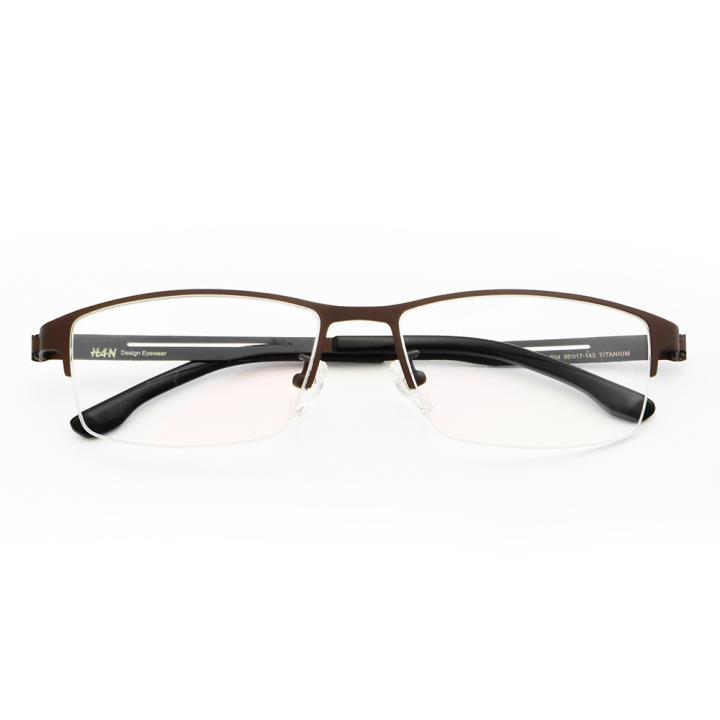 HAN时尚光学眼镜架HD49113-F04炫酷棕色