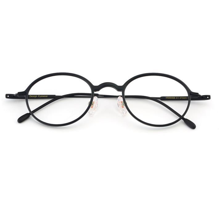 HAN TR金属光学眼镜架-经典纯黑(HN49406-C1)