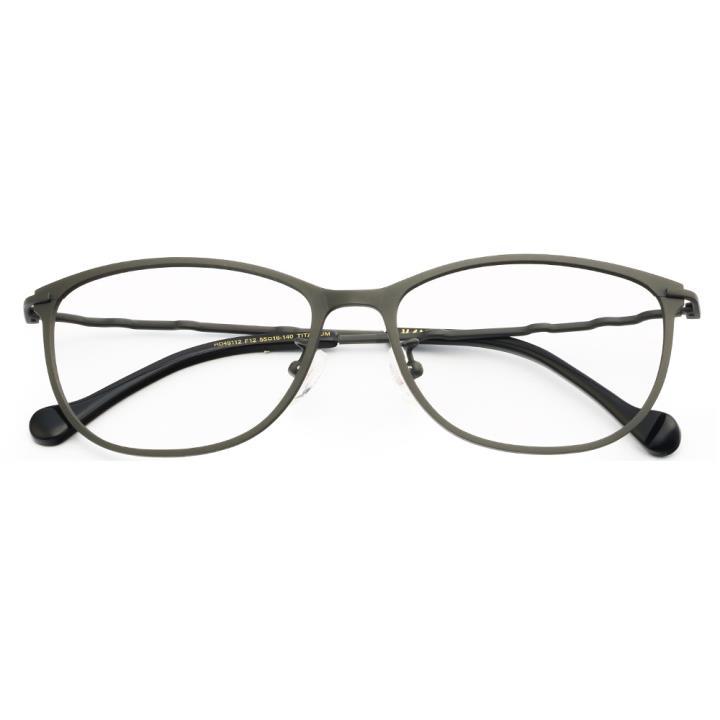 HAN纯钛光学眼镜架HD49112-F12炫酷枪灰