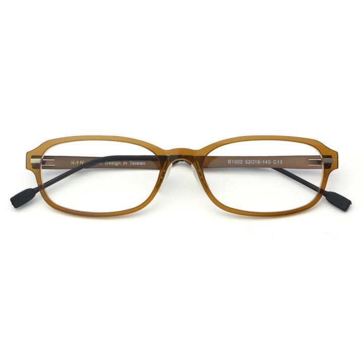 HAN尼龙不锈钢光学眼镜架-深茶色(B1002-C13)