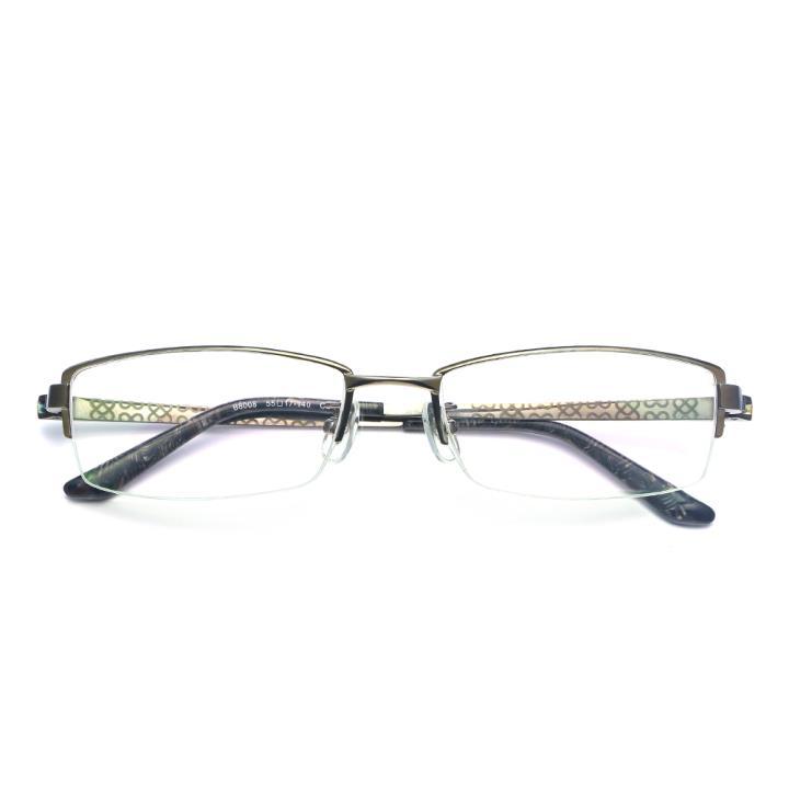 HAN纯钛光学眼镜架-枪色(B8008-C2)