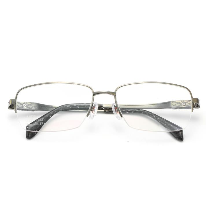 HAN纯钛光学眼镜架-低调枪灰(J81556-C3)