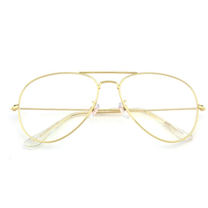 HAN不锈钢太阳眼镜架-金框(JK59312L-C3)(大号)