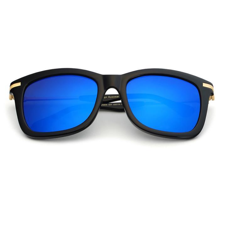 HAN时尚偏光太阳镜-黑框蓝色片(HD5805-S07)