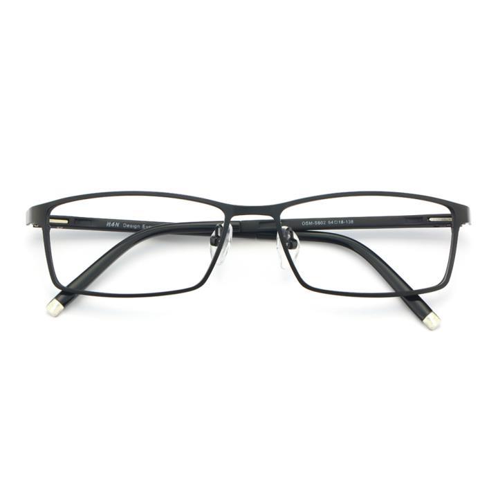 HAN金属TR光学眼镜架-哑黑色(602-F01)