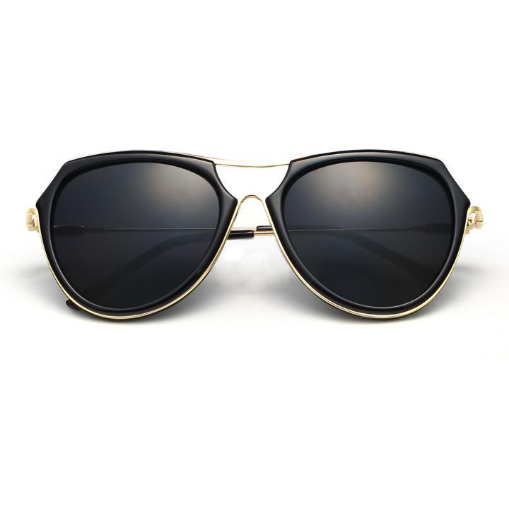HAN时尚防紫外线太阳镜HD59302-S01 黑框黑灰片