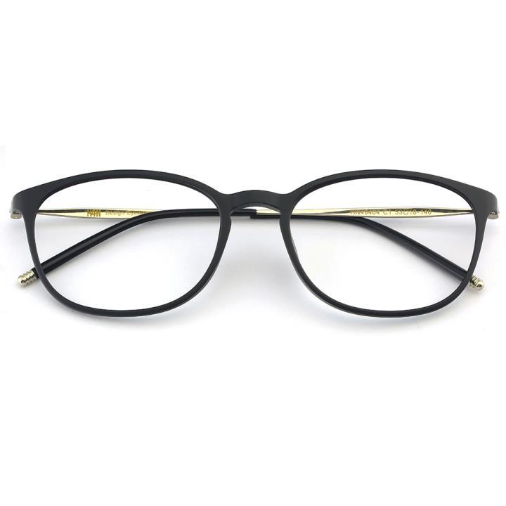 HAN TR不锈钢光学眼镜架-经典纯黑(HN49404-C1)
