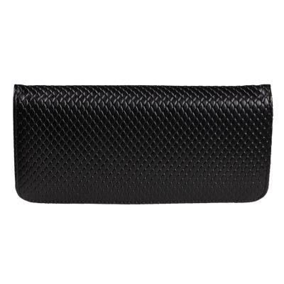 2014新款大气菱格纹长款拉链钱包