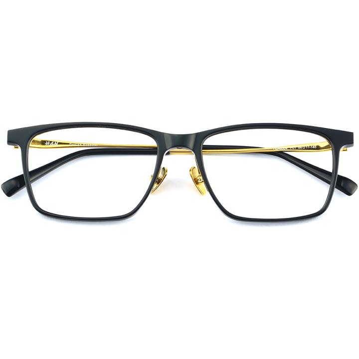 HAN 板材金属光学眼镜架-纯黑(HD49304-F01)