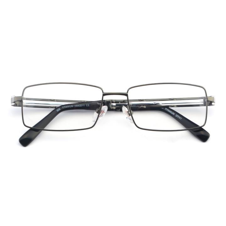 HAN TITANIUM纯钛光学眼镜架-百搭枪色(HN42011 C2)