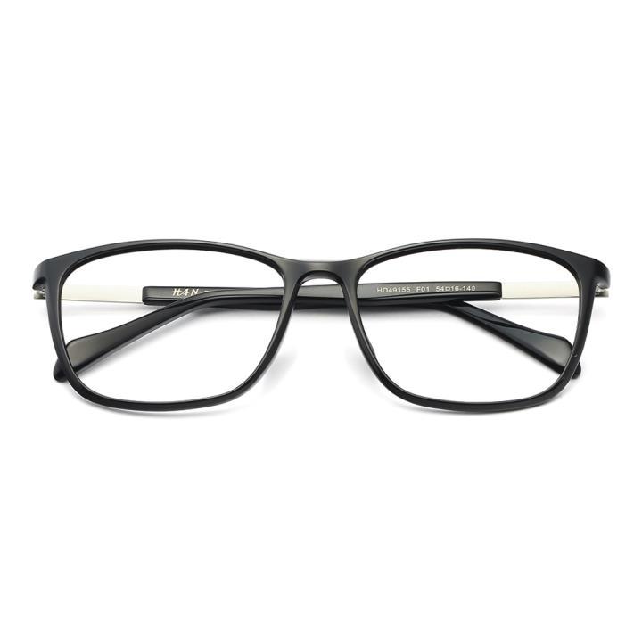 HAN TR板材光学眼镜架-经典亮黑(HD49155-F01)