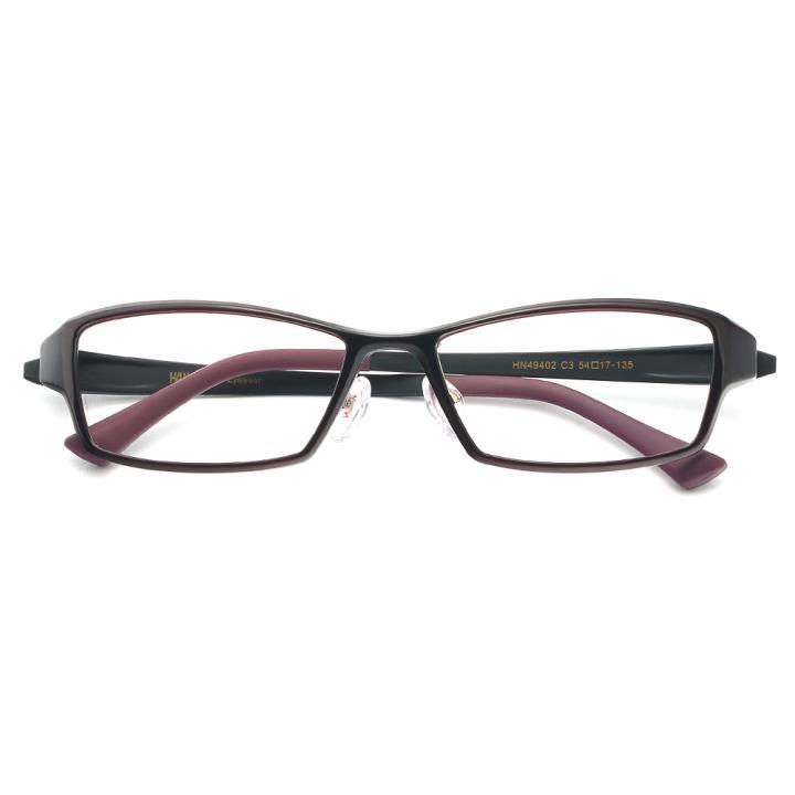 HAN 塑钢光学眼镜架-优雅酒红(HN49402-C3)