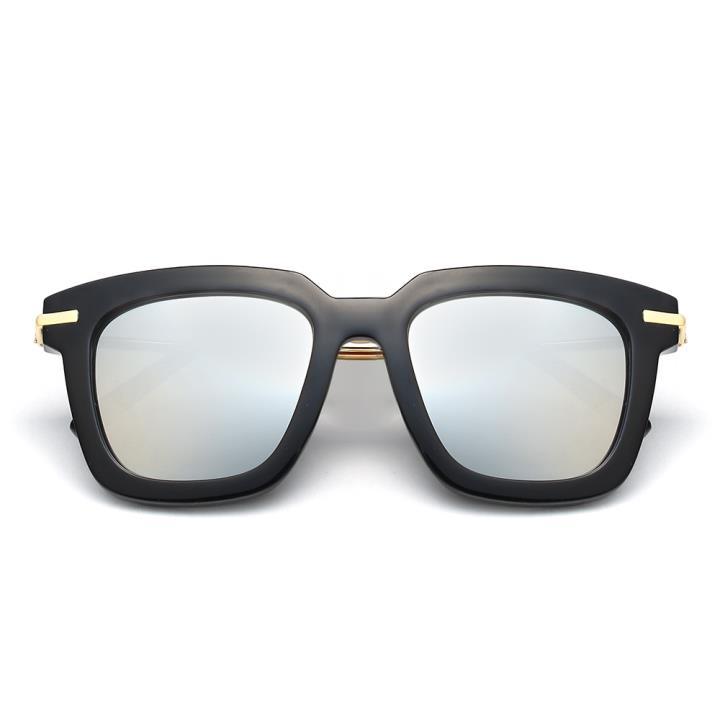 HAN时尚防紫外线太阳镜HD59300-S09 黑框银色片