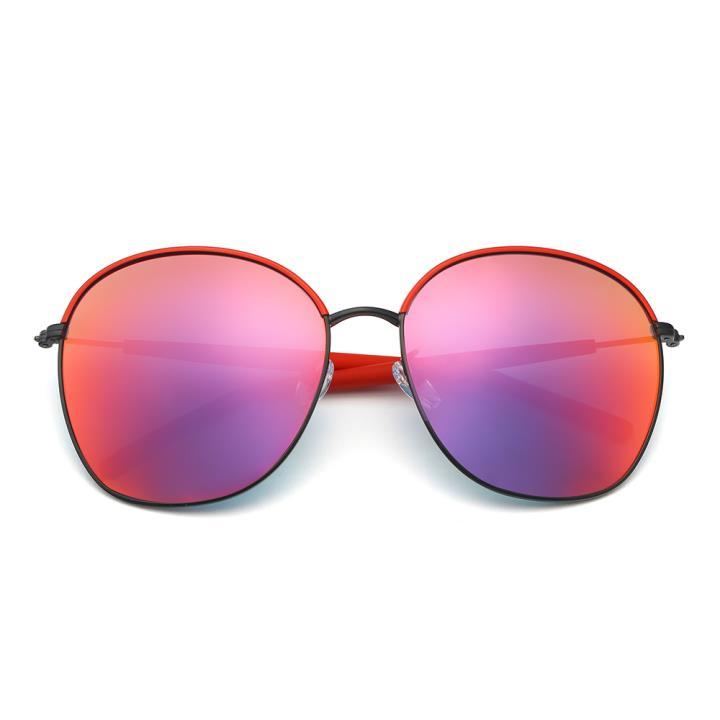 HAN不锈钢白铜防紫外线太阳镜-红框红色片(HD59118-S06)