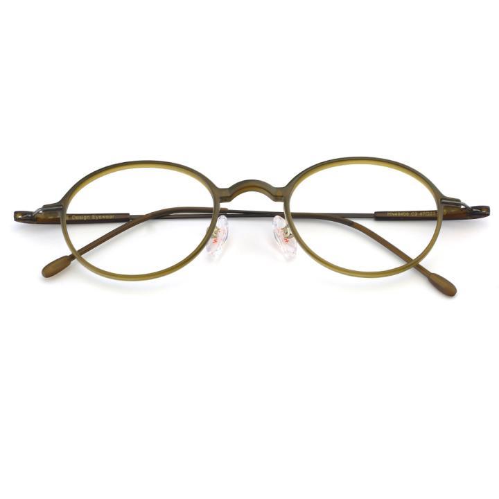 HAN TR金属光学眼镜架-雅致黄绿(HN49406-C2)