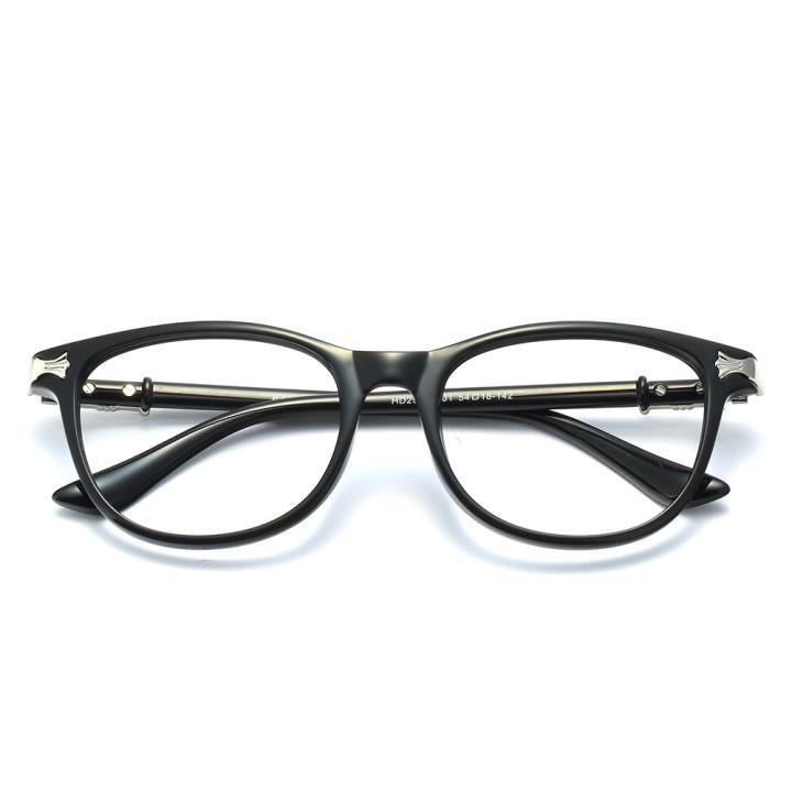 HAN克羅心MEGA-TR鈦塑近視眼鏡架-亮黑(HD2904-F01)