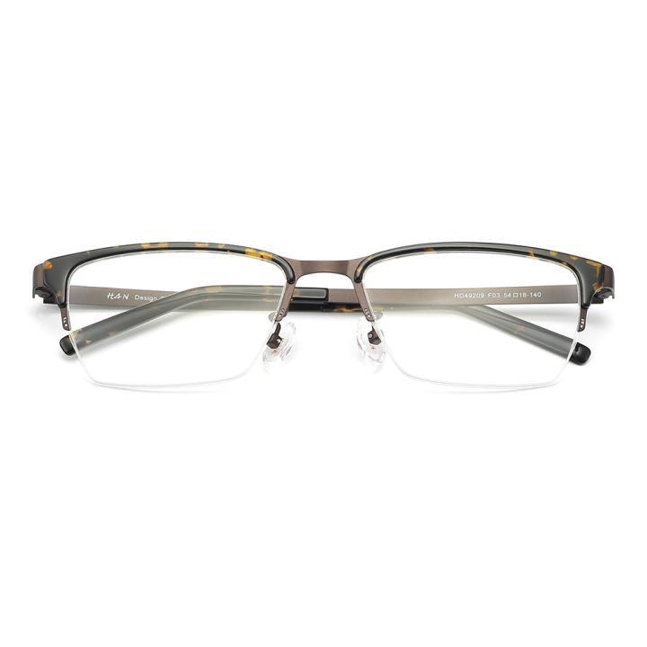HAN 醋酸纤维不锈钢光学眼镜架-玳瑁色(HD49209-F03)