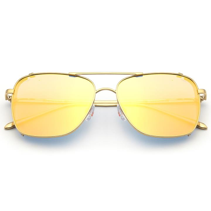 HAN RAZR-X9不锈钢偏光太阳眼镜-金框粉色片(HN51200 C3)