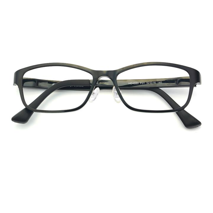 HAN塑钢时尚光学眼镜架-经典亮黑(HD4880-F01)