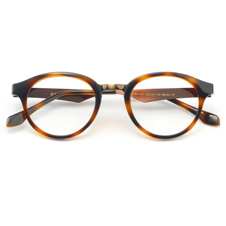 HAN MEGA-TR钛塑光学眼镜架-玳瑁棕(HD49166-C1)