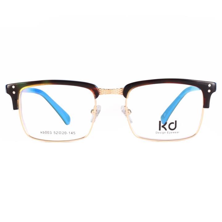 KD设计师手制复古板材金属眼镜架kb003-C7