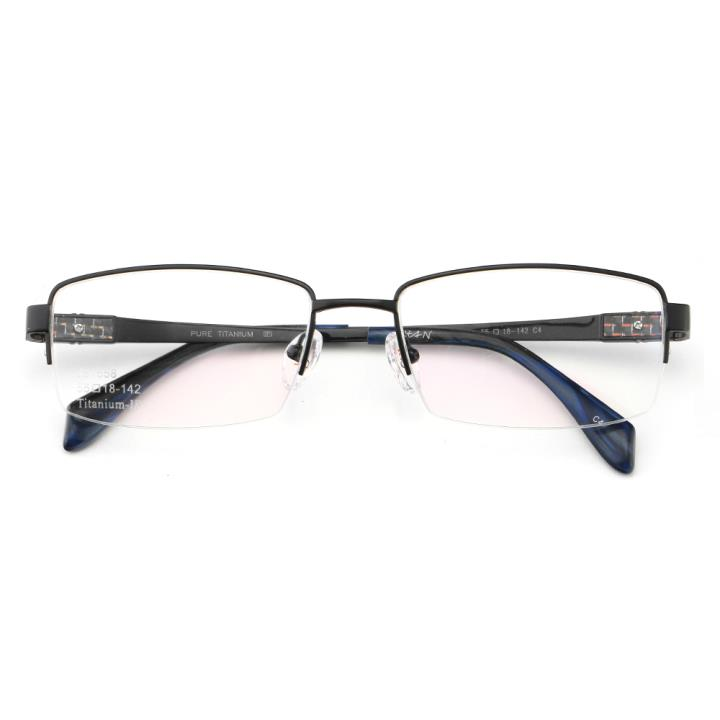 HAN时尚光学眼镜架J81558-C4哑黑色