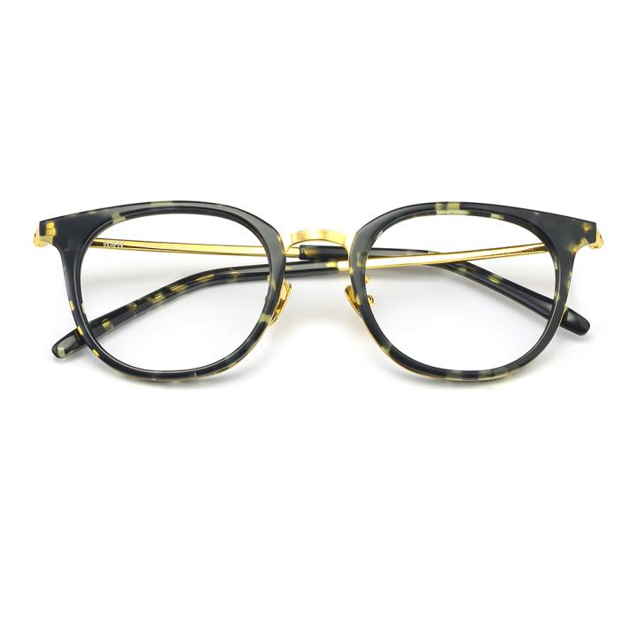 HAN板材金属光学眼镜架-绿玳瑁(HD49307-F03)