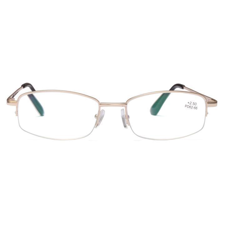 原点半框老光眼镜8809 金色