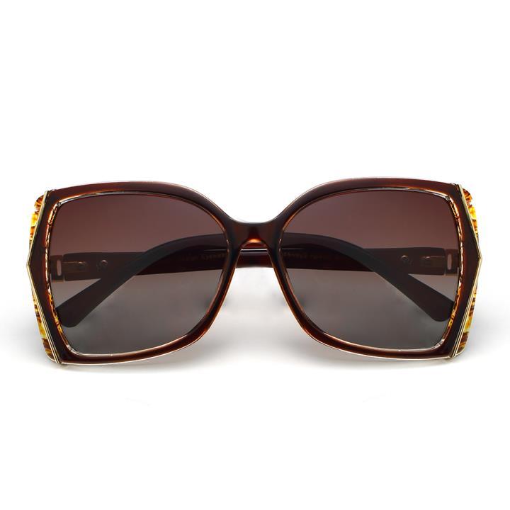 HAN时尚偏光太阳镜-棕框茶色片(HD59304-S04 )