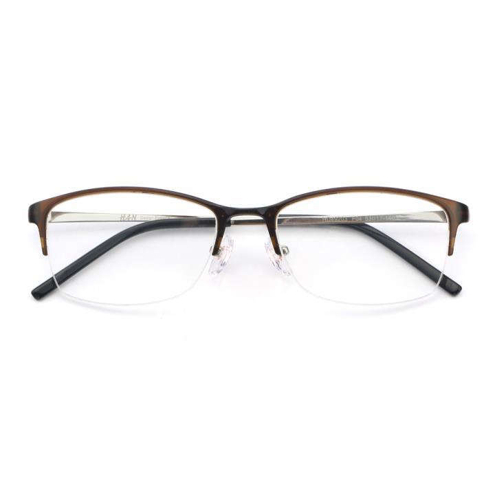 HAN MEGA-TR钛塑不锈钢光学眼镜架-复古棕色(HD49203-F04)