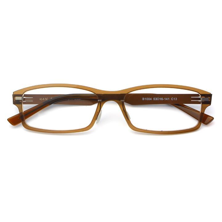 HAN尼龙不锈钢光学眼镜架-典雅茶色(B1004-C13)