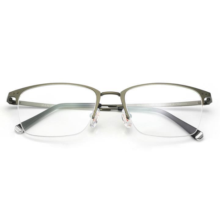 HAN纯钛光学眼镜架-哑枪色(HD49141-F02)