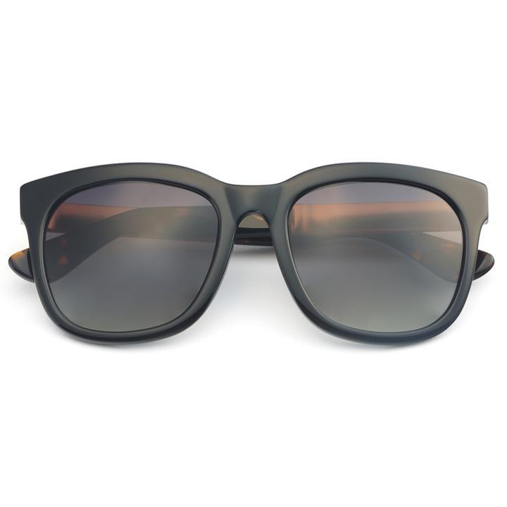 HAN板材偏光太阳镜-亮黑框渐进灰片(HN59351-C1)