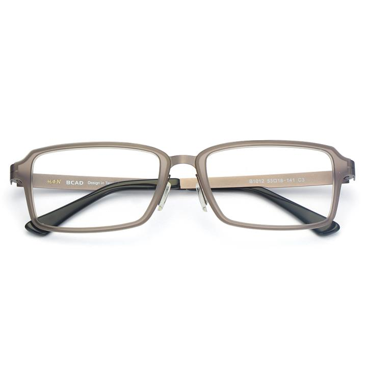 HAN尼龙不锈钢光学眼镜架-低调枪灰(B1012-C3)