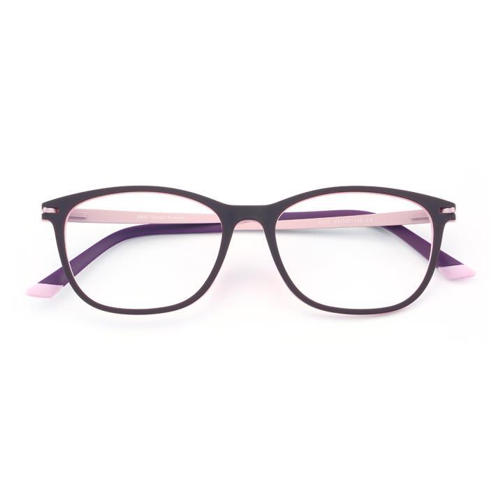 HAN 橡胶钛时尚光学眼镜架-紫粉色(6015-C5)