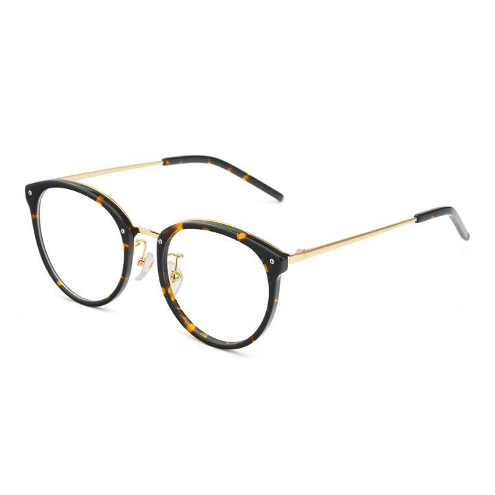 HAN醋酸纤维不锈钢光学眼镜架-复古玳瑁(HD49208-F03)