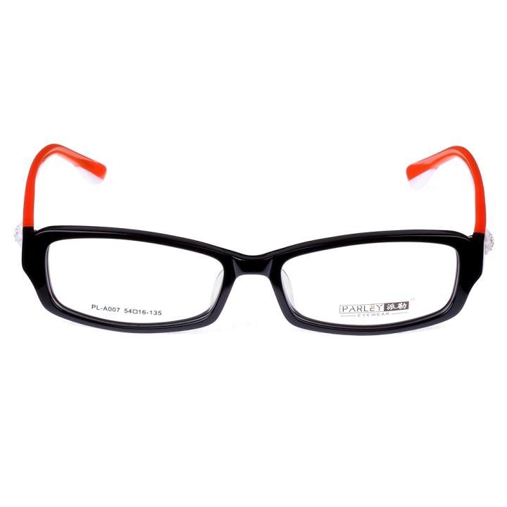 PARLEY派勒板材眼镜架-黑框橙腿(PL-A007-C3)