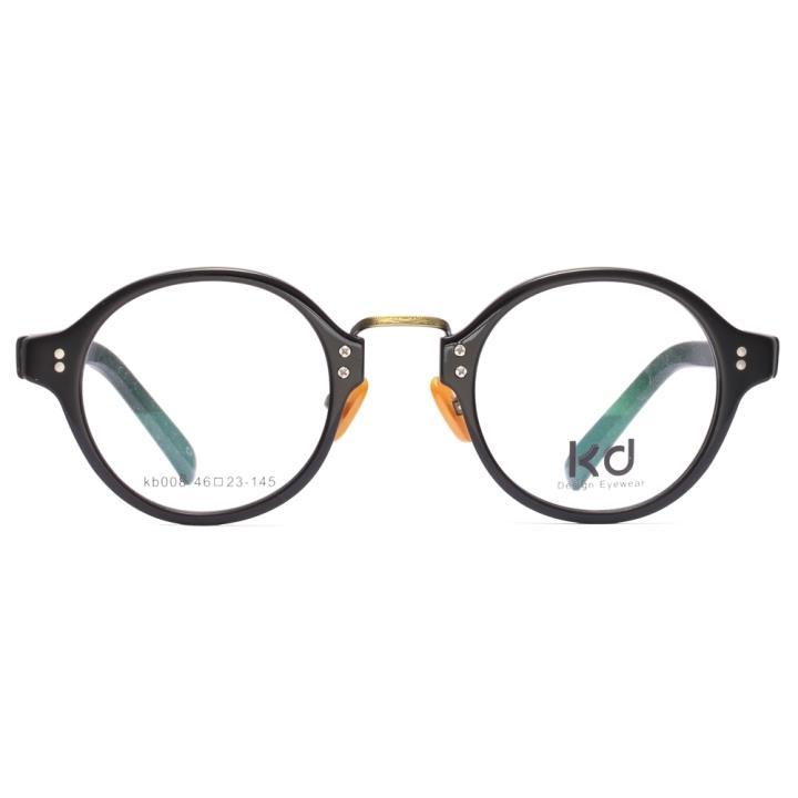 KD设计师手制复古金属板材眼镜kb008-C7